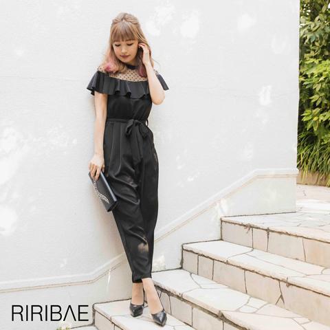 [darial]平子理沙プロデュース『RIRIBAE/リリベ』フリルデコルテオールインパンツドレス