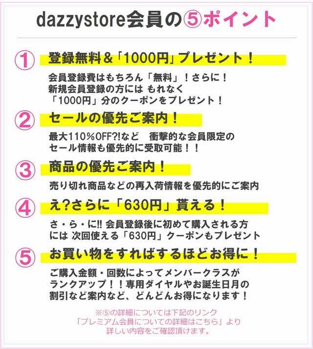 dazzystore会員の5ポイント